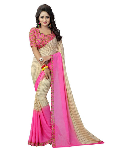 Pink Color Georgette Women's Saree - MUTA807