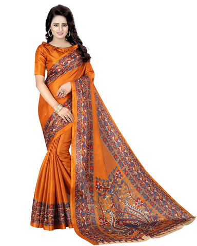 Mustard Color Khadi Silk Women's Saree - MUTA863