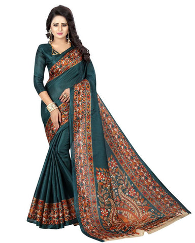 Sea Green Color Khadi Silk Women's Saree - MUTA864