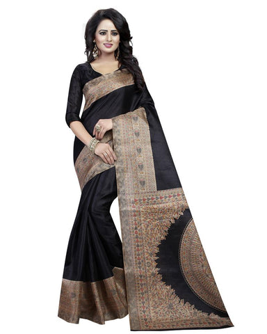 Black Color Khadi Silk Women's Saree - MUTA866