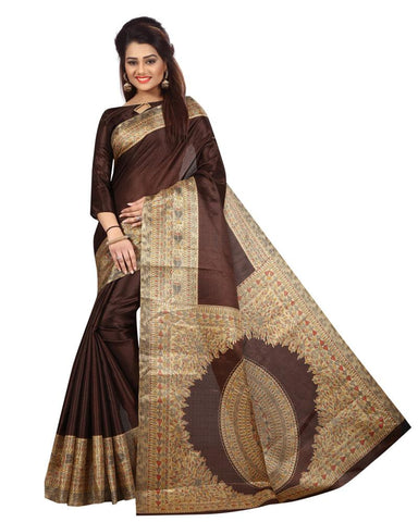 Brown Color Khadi Silk Women's Saree - MUTA867