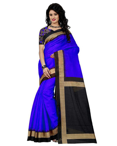 Blue Color Bhagalpuri Silk Women's Saree - MUTA900