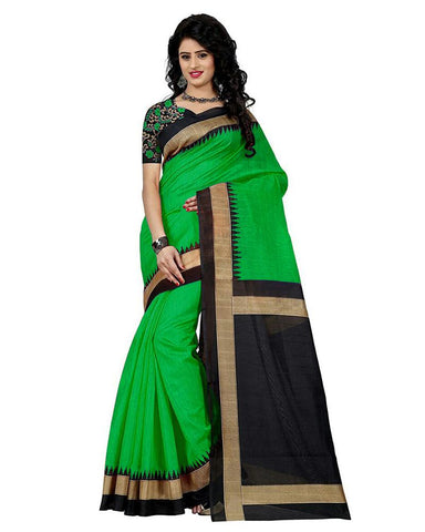 Green Color Bhagalpuri Silk Women's Saree - MUTA901
