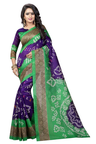 Green Color Bhagalpuri Silk Women's Saree - MUTA915