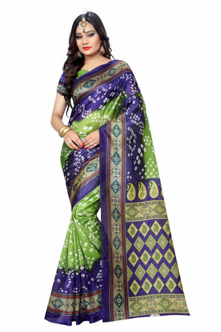 Green Color Art Silk Women's Saree - MUTA922
