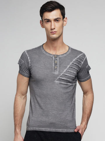 Light Grey Color Cotton Men's Tshirt - MYNCR017006LTGRY