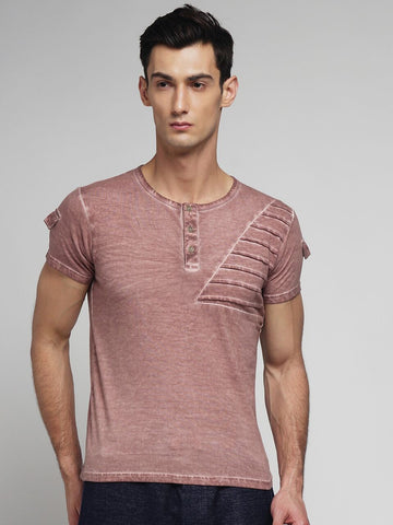 Pink Color Cotton Men's Tshirt - MYNCR017006PINK