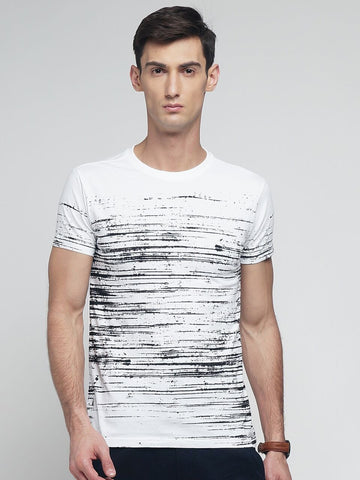White Color Cotton Men's Tshirt - MYNGPCR017025WHT