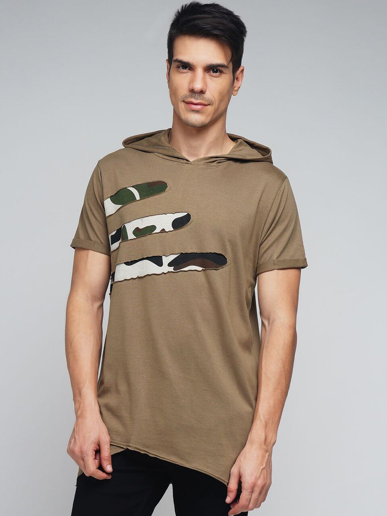Buy Brown Color Cotton Men's Tshirt
