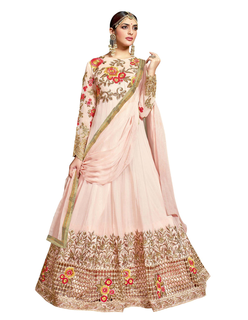 Light Pink Color Pure Georgette Salwar