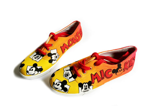 Multi Color  Canvas Unisex Shoe - Mickey-colorful-9