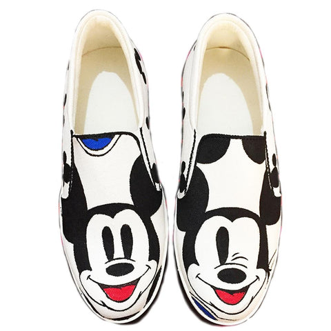 Multi Color  Canvas Unisex Shoe - Micky-with-wink-10