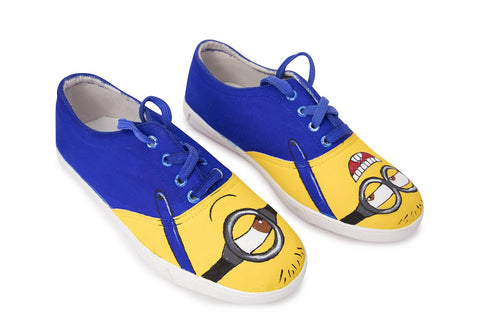 Multi Color  Canvas Unisex Shoe - Minion-Dark-Lace-11