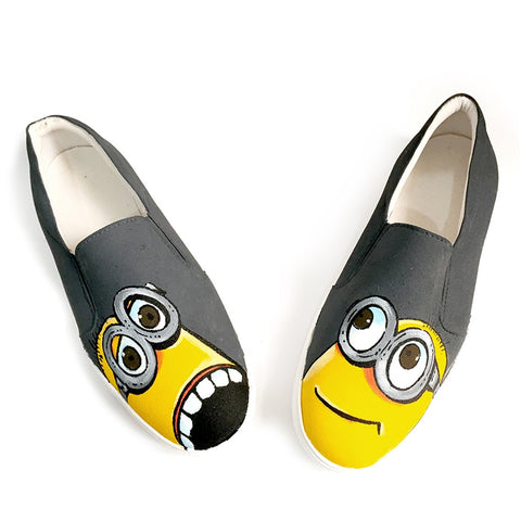 Multi Color  Canvas Unisex Shoe - Minion-Gray-14