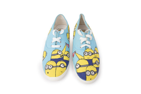 Multi Color  Canvas Unisex Shoe - Minion-SkyBlue-13