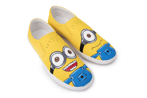 Multi Color  Canvas Unisex Shoe - Minion-Slip-On-12