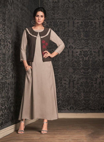 Dusty Color Rayon Stitched Kurti - Miraaz1-21004