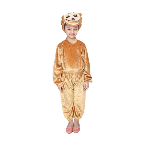 Multi Color Cotton Blend Fancy Costume Dress  - Monkey-1