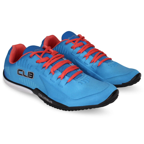 Blue and Orange Color Synthetic Men's Shoe  - Mountain-RblueOrange