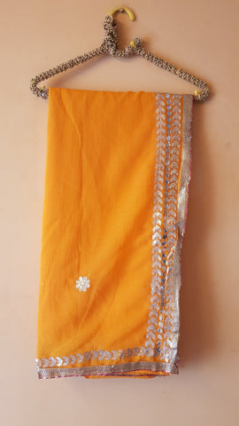 Yellow Color Georgette Women's Saree - NAOMI220