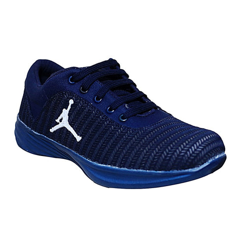 Navy Color Mesh Men Shoe - NAVY-JOR