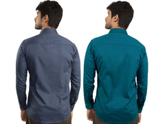 Combo Shirts Navy Blue and Sea Green - 1ABF-NB-SG