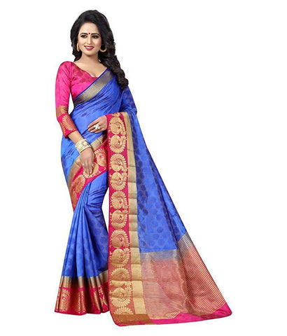 Blue Color Kanjivaram Silk Saree - NCC-102A