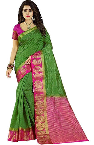 Green Color Kanjivaram Silk Saree - NCC-102B