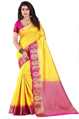 Yellow Color Kanjivaram Silk Saree - NCC-102E