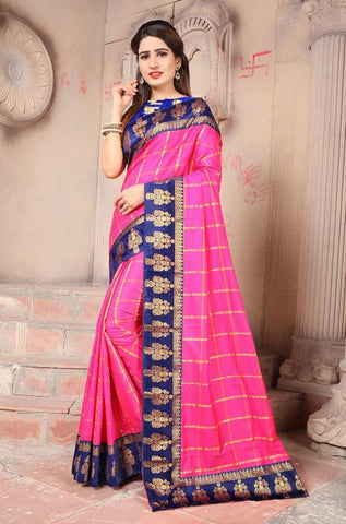 Pink Color Sana Panetar Silk Saree - NCC130F