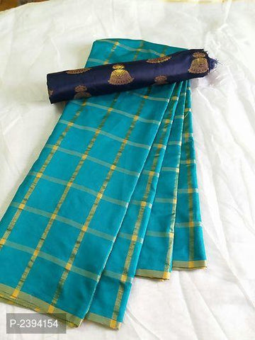 Turquoise Color Sana Panetar Silk Saree - NCC134A