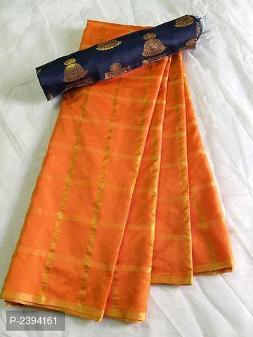 Orange Color Sana Panetar Silk Saree - NCC134E