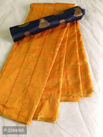 Mustard Color Sana Panetar Silk Saree - NCC134H