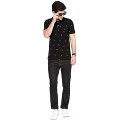 Black Color Organic Cotton Men Jeans - NC-IndigoRinseDark