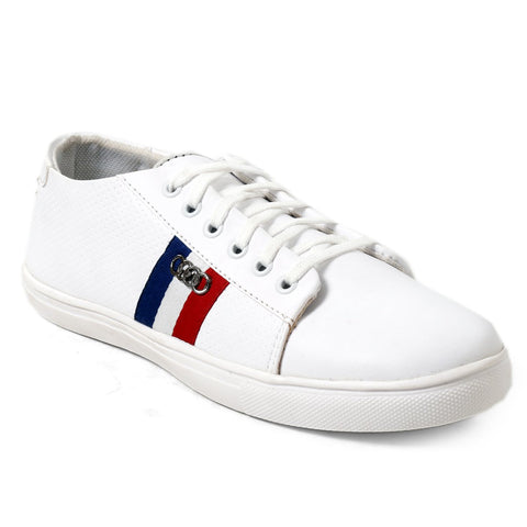BROOKE White Color Synthetic Men Casual Shoes - NEW-WHITE-SNEAKERS