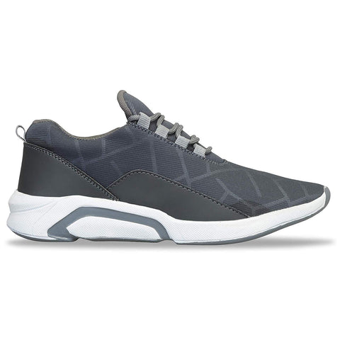 Grey Color Canvas Shoes for Unisex - NF009-Grey