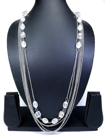 Silver Color Alloy Necklace - NK0011