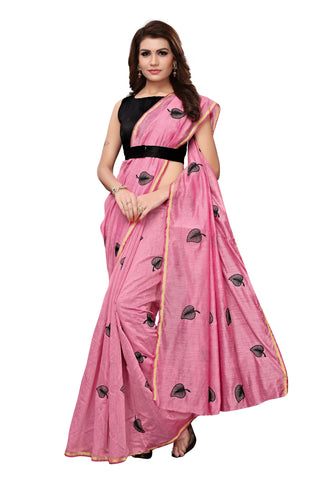 Pink Color Chanderi Cotton  Saree - NKSI3001