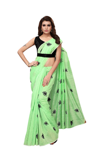 Light Green Color Chanderi Cotton  Saree - NKSI3003