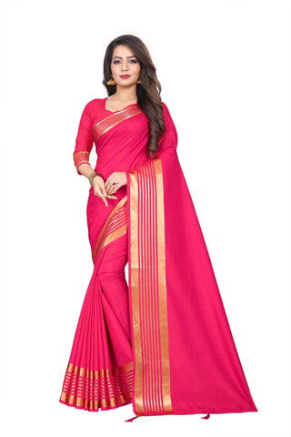 Pink Color Silk Women's Saree - NKT102