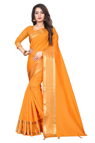 Yellow Color Silk Women's Saree - NKT103