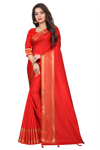 Red Color Silk Women's Saree - NKT104