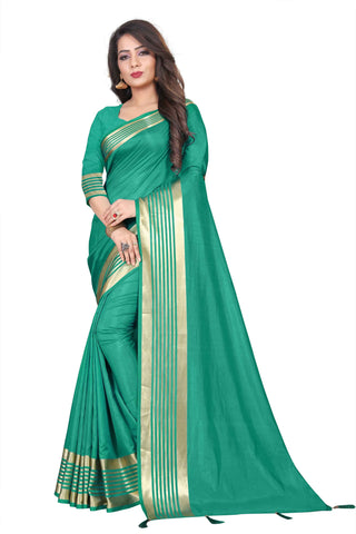 Blue Color Silk Women's Saree - NKT105