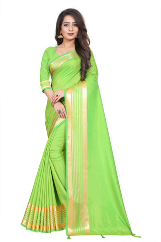 Light Green Color Silk Women's Saree - NKT108
