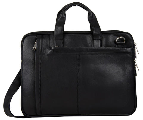 Black Color Leather Women Laptop Bag - NL06BLACK