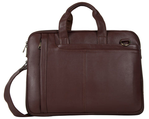 Brown Color Leather Women Laptop Bag - NL06BROWN