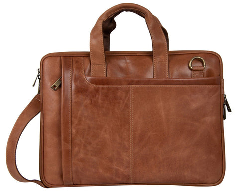 Tan Color Leather Women Laptop Bag - NL06TAN