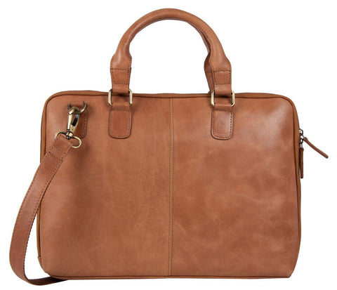 Tan Color Leather Women Laptop Bag - NL07TAN