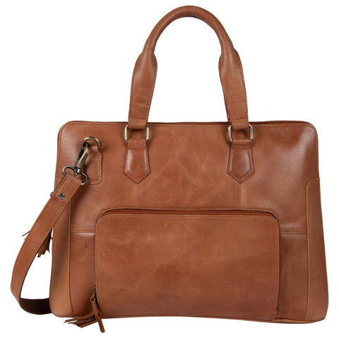 Tan Color Leather Women Laptop Bag - NL08TAN