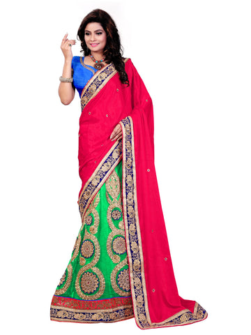 Pink Color Jacquard Saree - NMD2A229DP